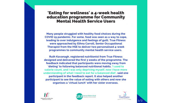 Feedback from our 'Eating for Wellness' programme