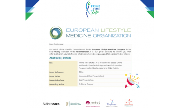 We will be presenting at the next European Lifestyle Medicine Organisation conference!!
