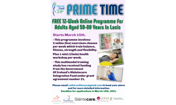Would you like to join our Sláintecare funded Prime Time Programme in March 2021??